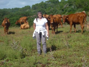Maria Tuduri and some of her Menorcan brown cows
