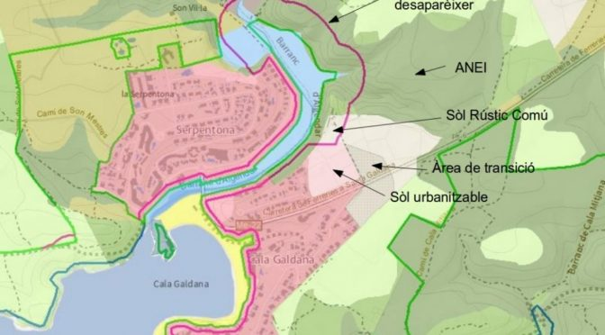 The area that could become unprotected