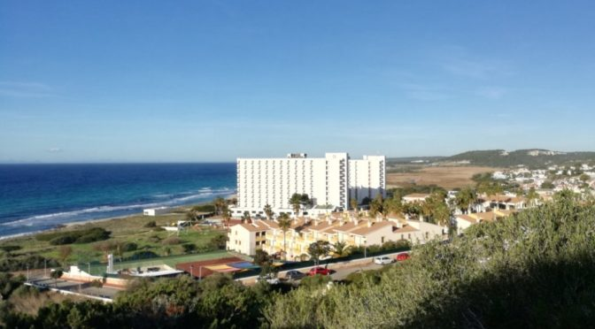 The twin hotels at Son Bou