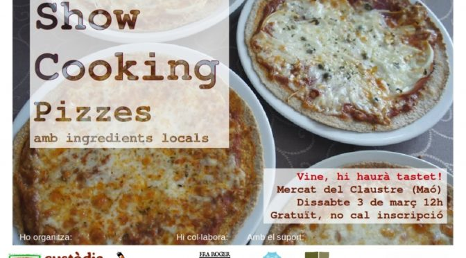 Saturday 3 March. Showcooking of environmentally friendly pizzas