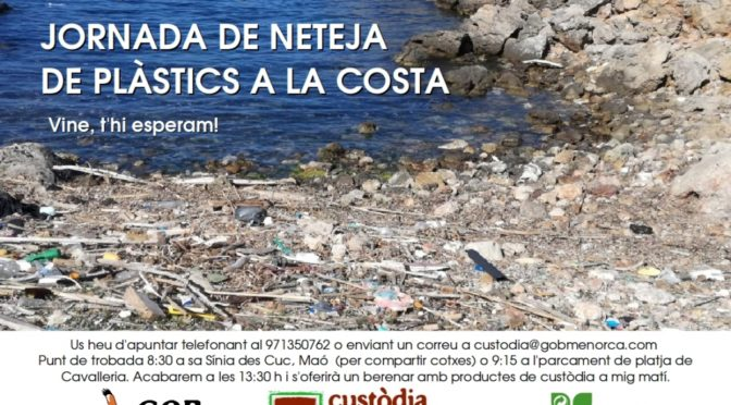 Sunday 20 May plastics clean up on the coast at Cavalleria