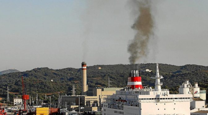 Control of atmospheric emissions in the Port of Mahon