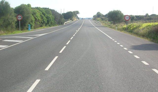 The main road of Menorca
