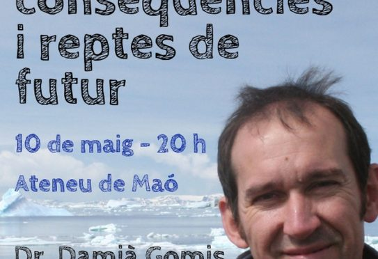 Friday 10 May. Conference on Climate Change with Damià Gomis