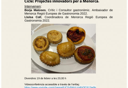 Menorca Region of European Gastronomy, discussion on 19 February
